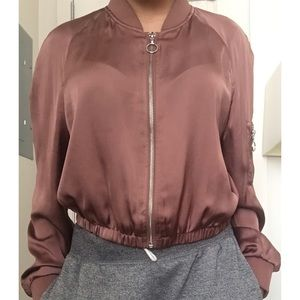 Rose-gold Bomber Jacket